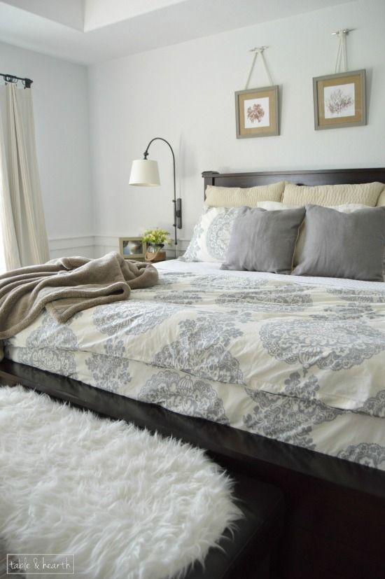 Bright and relaxing master bedroom reveal one room - Relaxing master bedroom paint colors ...