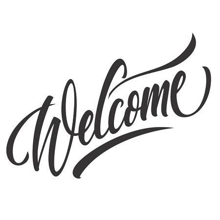 Peaceful image regarding welcome stencil printable