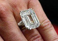 Princess Soraya of Iran's 22.37 carat diamond engagement ring from the Shah of Iran #PrincessSoraya #diamond #engagementring