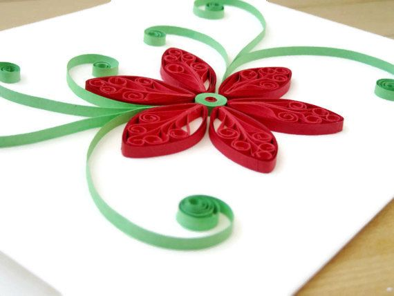 Paper Quilled Flower Card Birthday Card Thank You by SarahEGillis