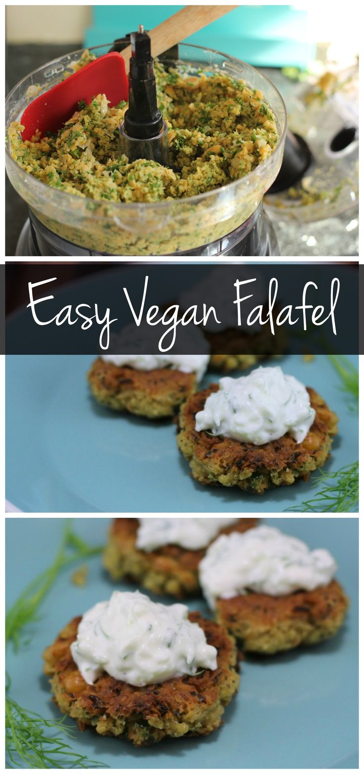 This easy vegan falafel recipe can be made in the food processor! You only need a few pantry staples to have this vegetarian dinner on the table!