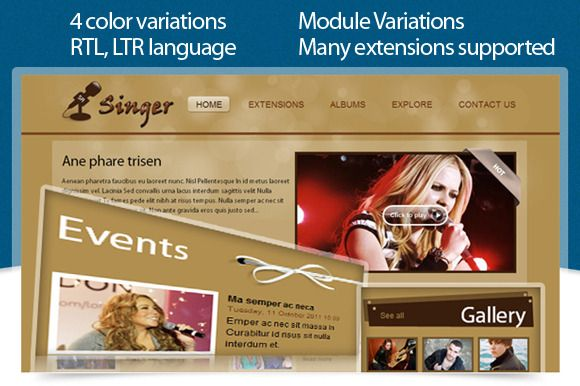 SJ Singer Template is based on  Yt Framework Template and you can create sophiscated templates in no time, even for comprehensive websites.