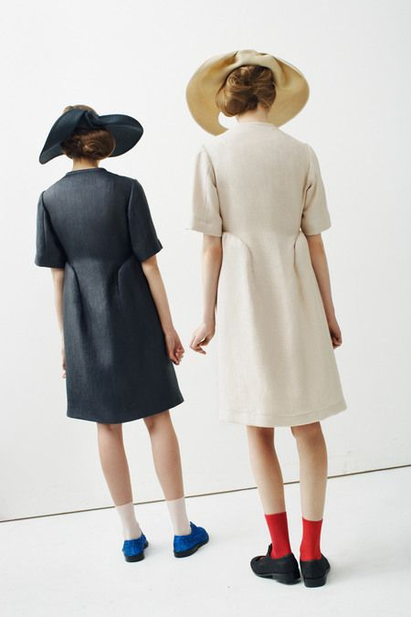 Peter Jensen is working with organic circles, holes, inspired by Barbara Hepworth, Spring 2013 rtw