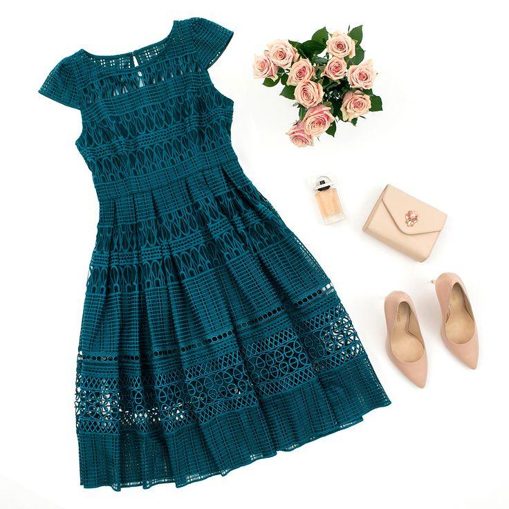 Saint Petersburg Dress | Keeley Bag | Flatlay