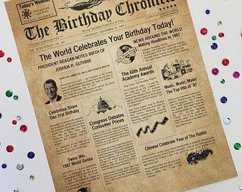 100 cumpleaños regalo personalizado de 8.5 X 11 impresión
