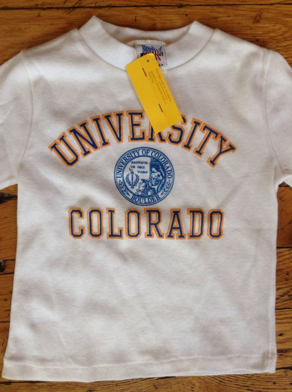 1980's University of Colorado Boulder t shirt USA toddler