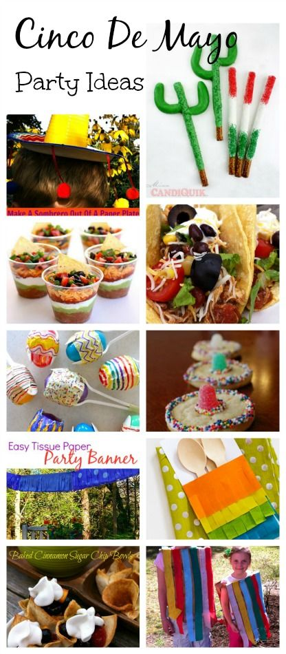 The Best of Cinco De Mayo Crafts, Food, and Party Ideas - 13 + Ideas for a fun kid friendly Cinco De Mayo Party!