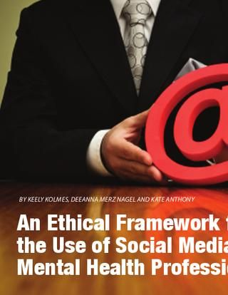 Ethical Framework for the Use of Social Media by Mental Health Professionals