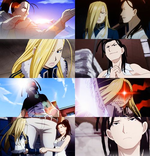 Izumi Curtis and Olivier Armstrong (Fullmetal Alchemist: Brotherhood)