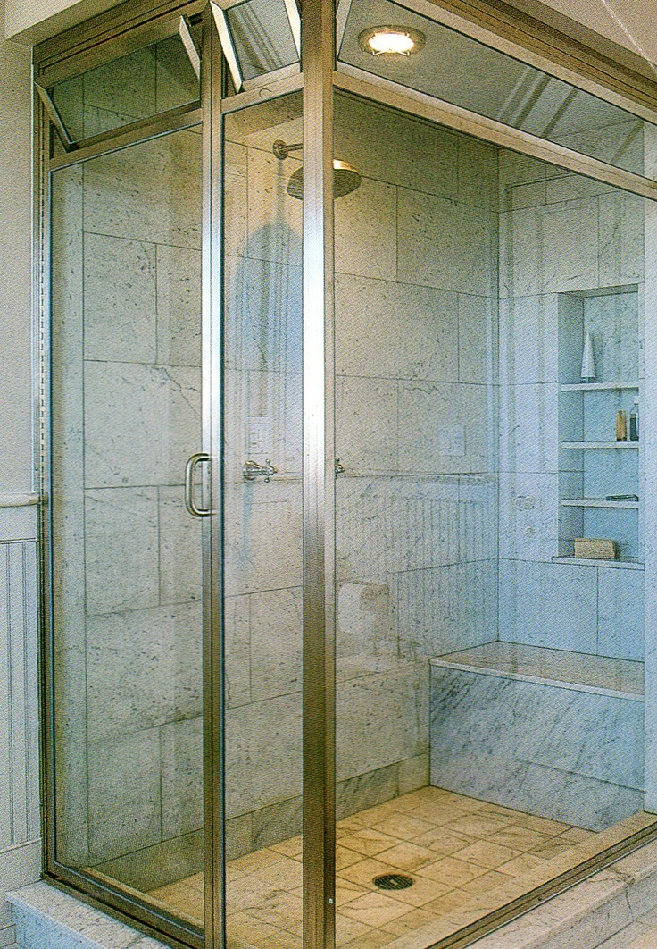 73 best images about shower ideas on pinterest neutral for Built in shower ideas