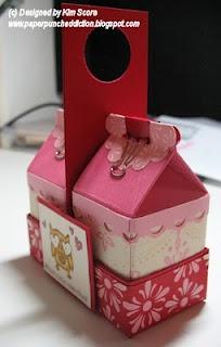 Instructions for mini milk carton holder