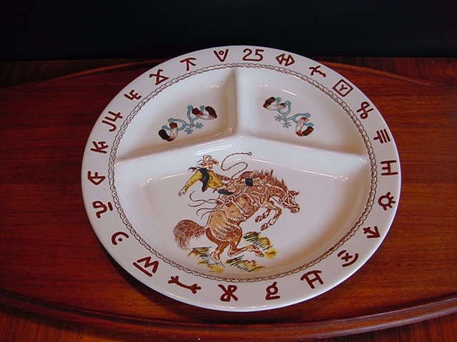 Vintage cowboy ided dish with branding symbol surround. No markings. & 148 best Kitchen Western Dishes images on Pinterest | Antique ...