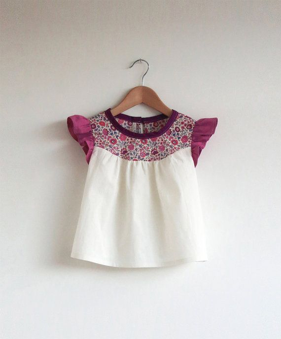 cotton blouse with Liberty print detail