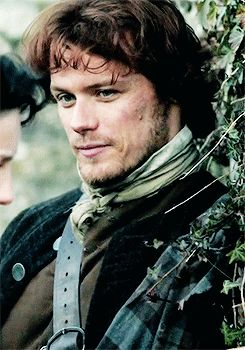Sam Heughan as Jamie Fraser in #Outlander//