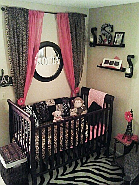 I love the curtains behind the crib! I will be stealing this idea for our kitten! Now to pick a color scheme I like....