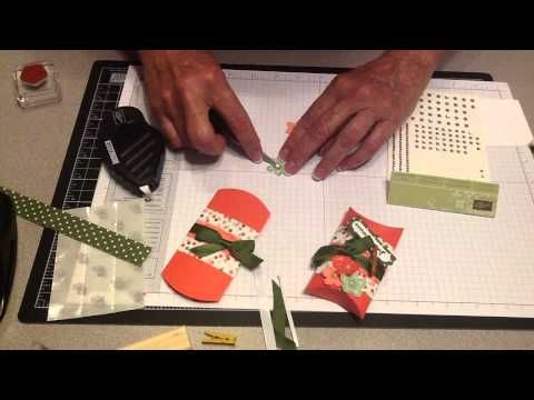 Party Favor Box - Pillow Box Stampin Up Coral - YouTube