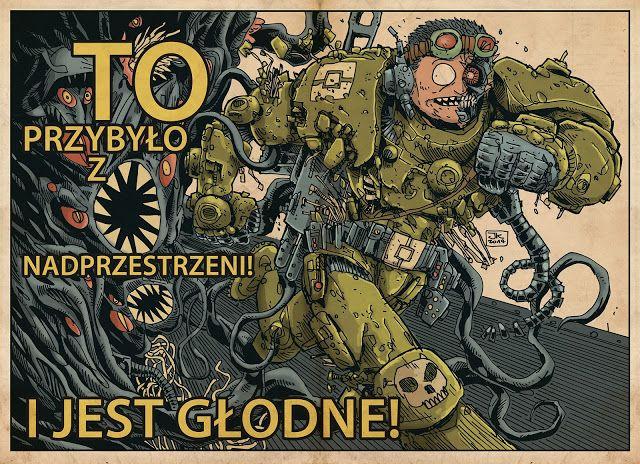 Jakub Kijuc - komiks, ilustracja: TO przybyło z nadprzestrzeni...