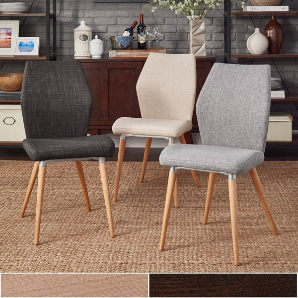 Abelone contour upholstered dining chairs set of 2 for Inspire q dining room chairs