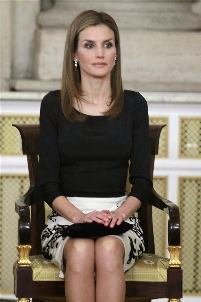 18 June 2014 Spanish Royal Family attended the King Juan Carlos of Spain signs the Act of Abdication at the Royal Palace in Madrid.