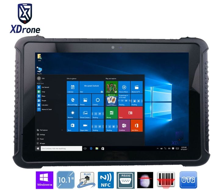 """China K16H Rugged Tablet PC Windows 10 home 10.1"""" Z8350 Tough IP67 Waterproof Shockproof Android 4G LTE Fingerprint RS232 RJ45"""