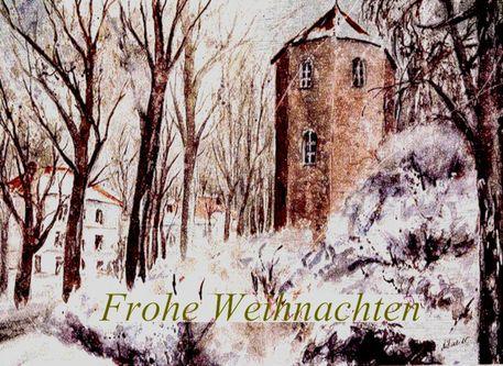 'Weihnachtskarte - Pfarrkirchen' von Chris Berger bei artflakes.com als Poster oder Kunstdruck $18.03