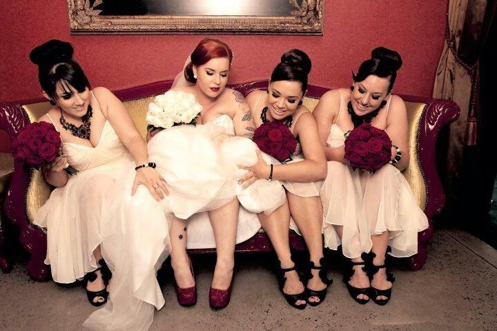 Me and my beautiful bridesmaids