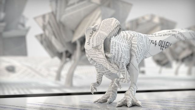 Paper Age by Ken Ottmann. Researching character rigging, polygon reduction, depth of field and motion blur in Cinema 4D.