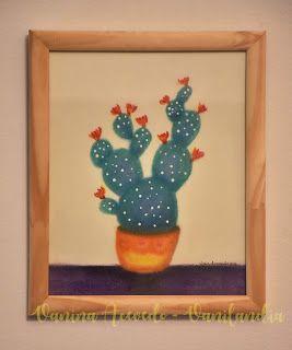 Vanilandia: Cactus en macetas, Cactus pintados y mucho color p...