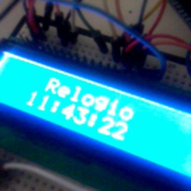 First project with Arduino Mega!! Relógio digital com LCD e displays de 7 segmentos e um termometro medindo a temperatura de um processador. #Eletrônica #engenhariaeletrica #arduino by ugk_lopes