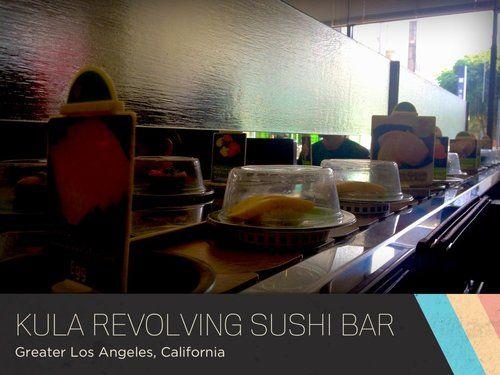 Grab the plates that look good and dig in! Kula Revolving Sushi Bar Los Angeles, California, United States