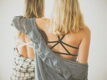 Lingerie géométrique ♡ XENIA Cotton Bralette - Black ♡ Sur DaWanda.com <3
