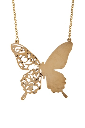 PiiSuaKoo necless by JohannaN at Nordic Design Collective #jewelry #jewellery #butterfly