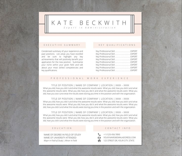 PROFESSIONAL RESUME TEMPLATE | 5 Template Pack |  Microsoft Word  | Cover Letter, Thank You, References, Unlimited Pages | Instant Download by TheResumeShoppe on Etsy https://www.etsy.com/listing/240578840/professional-resume-template-5-template