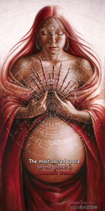 The most sacred space on the planet is a woman's womb.. WILD WOMAN SISTERHOODॐ #WildWomanSisterhood #wildmotherhood #reclaimingourwombwisdom #wildwomanmedicine