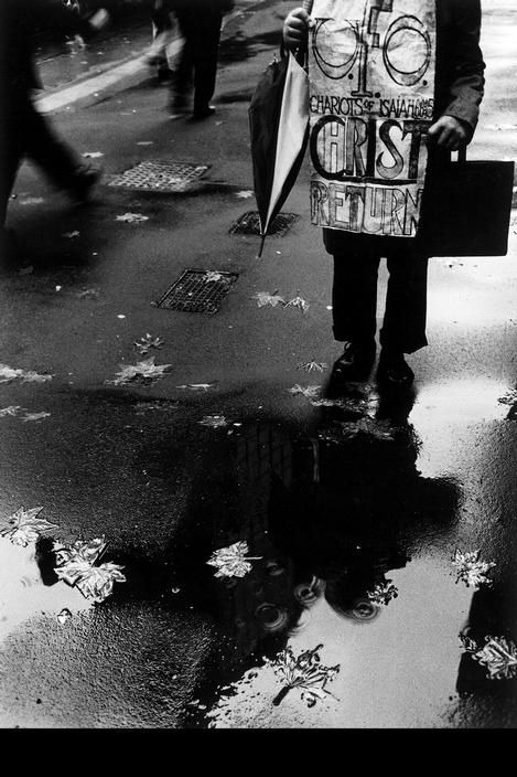 Trent Parke. One of Sydney's eccentrics who has walked the cities street for years. 'Dream/Life'