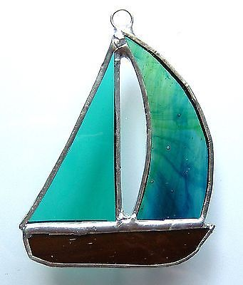 #Yacht stained #glass suncatcher boat sailing #racing sport fishing prize gift ne,  View more on the LINK: http://www.zeppy.io/product/gb/2/120886867441/