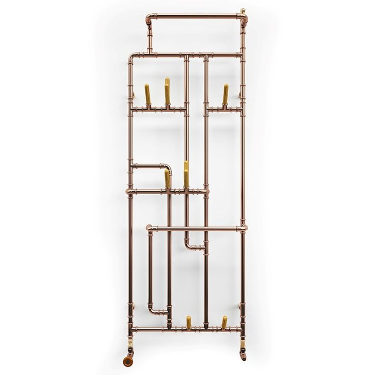 The Pajak radiator is formed from copper pipework at a variety or angles and joins