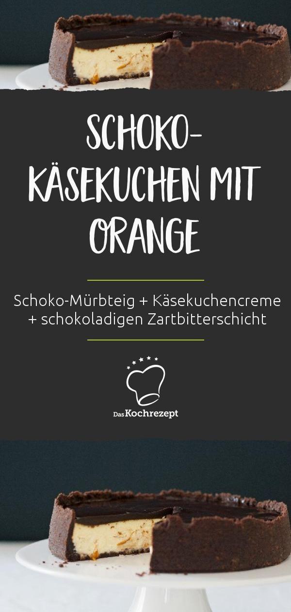 Schoko-Käsekuchen mit Orange