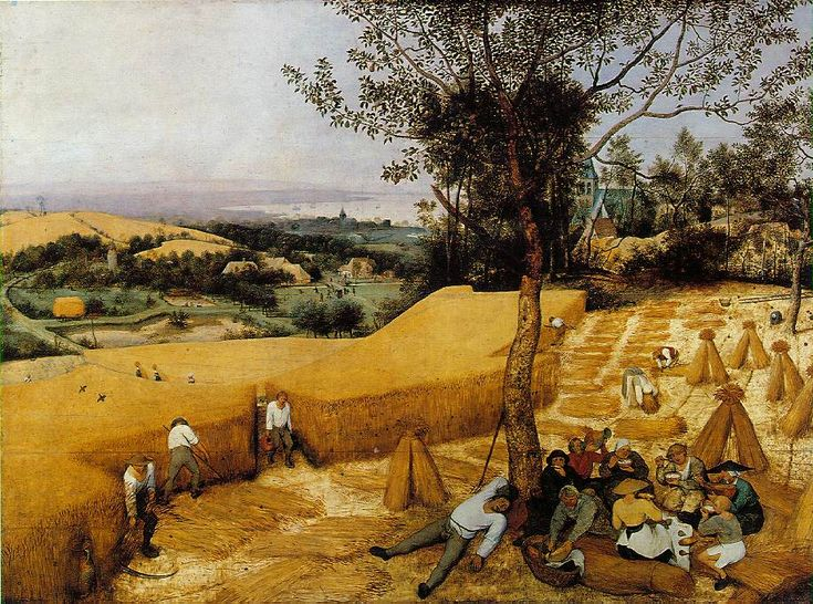 Brueghel- The Harvesters. One of the greatest overlooked Renaissance masterworks.  Incredibly detailed and moving, yet powerfully cohesive.  This work sits in a lovely little room with portraits and a fine wooden bench at the Met.  I recommend seeing it today. #ridecolorfully