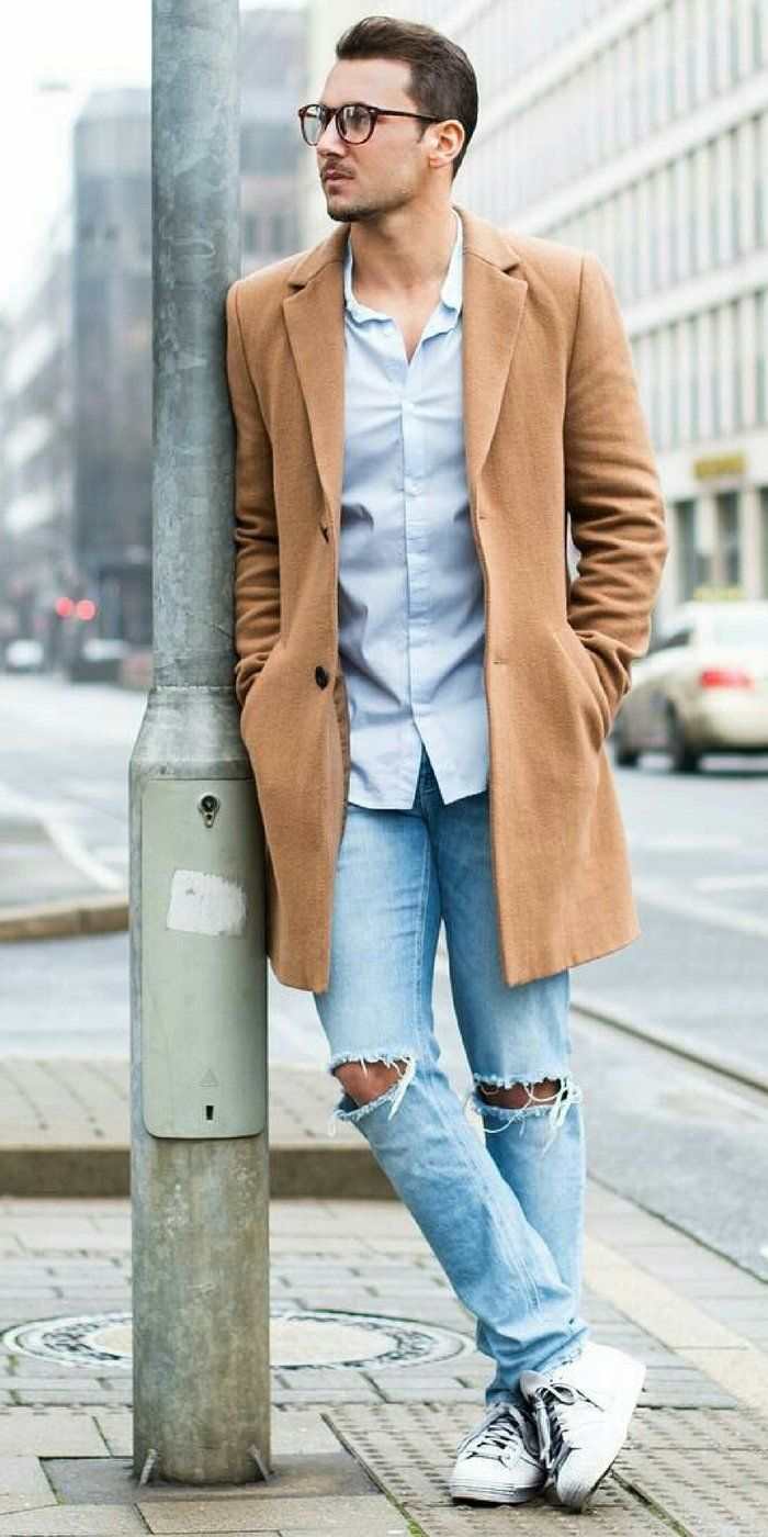 Mens knitted cardigan - simple and stylish