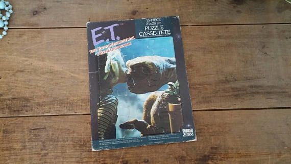 Vintage 1980's E.T. Puzzle 80's Toy frame tray