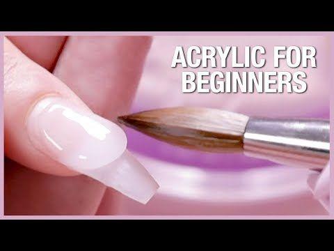 Acrylic Nail Tutorial How To Apply Acrylic For Beginners Youtube Acrylic Nail Kit Diy Acrylic Nails Acrylic Nails At Home