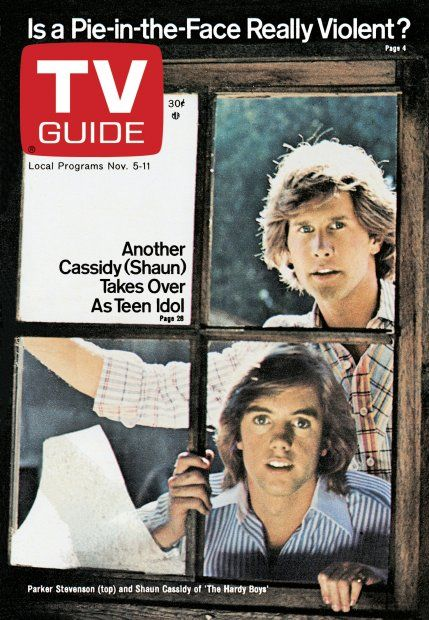 TV Guide November 5, 1977 - Parker Stevenson and Shaun Cassidy of The Hardy Boys