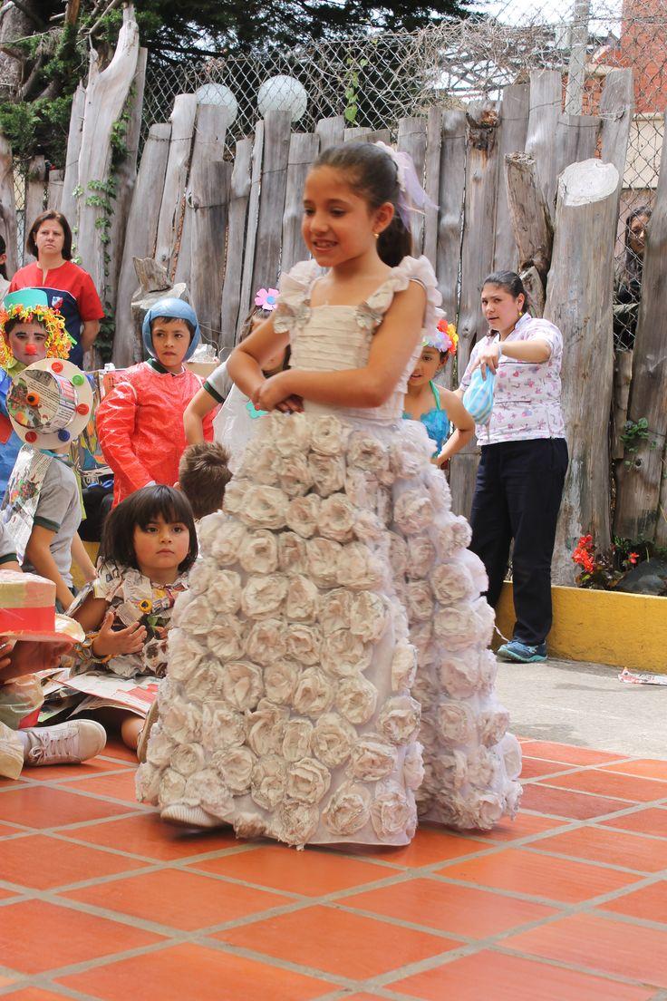 Un lindo vestido de novia.