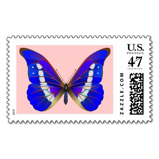 Butterfly Postage Stamp #butterfly #insect #postage #tropical