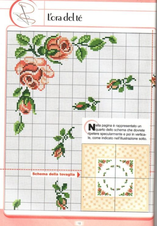Roses corner motifs for cross stitch .... Gallery.ru / Фото #118 - схемки - mynk