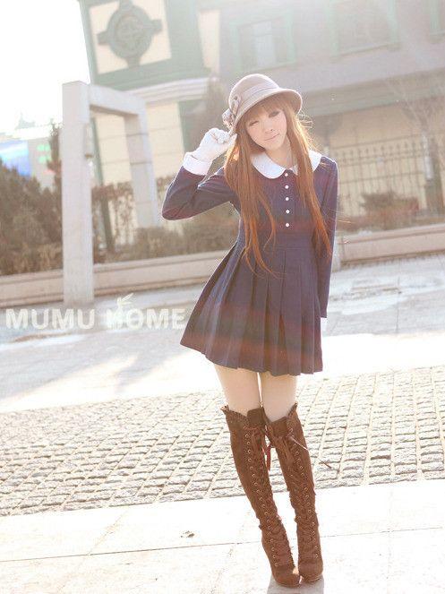 academic style pleated dress