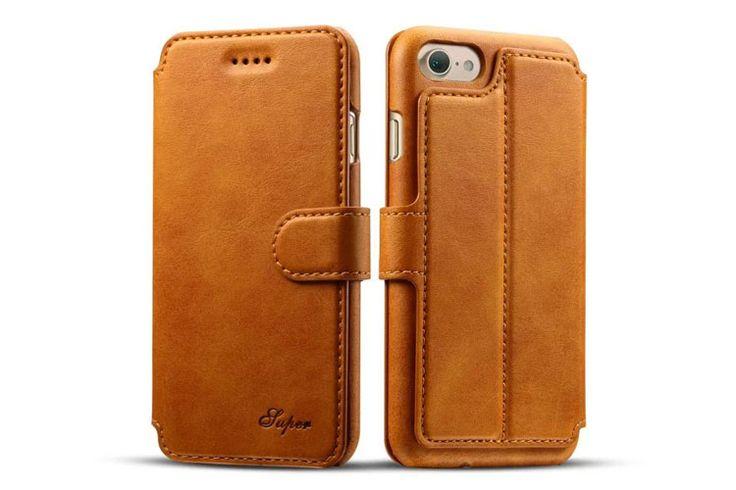 best Fashion iphone 7 Cases leather wallet Orange