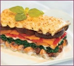 Spinach, Pepper and Eggplant Lasagna