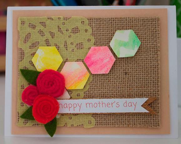 Elegant and fun Mother's Day #card via @Rebecca Kahler Beautiful www2.fiskars.com